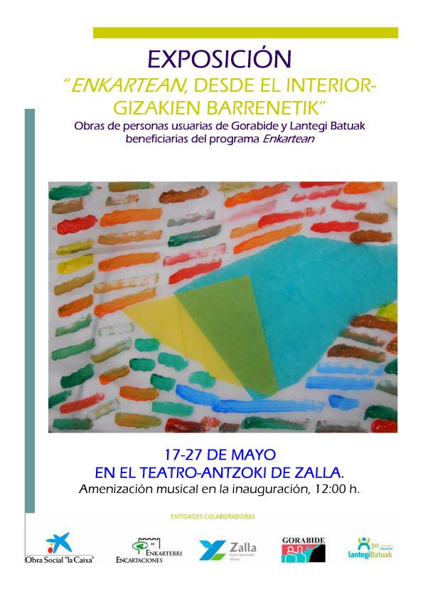 Personas usuarias de gorabide y de lantegi batuak exponen sus obras de arte en zalla gorabide - Oficinas la caixa bilbao ...
